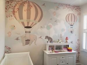 Little Hands Wallpaper Mural - falling